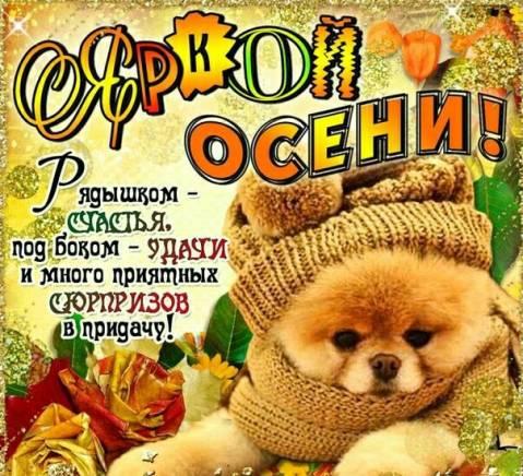 Поздравление друзей с осенью 20